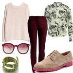 Весенний сет из одежды «Бордо»