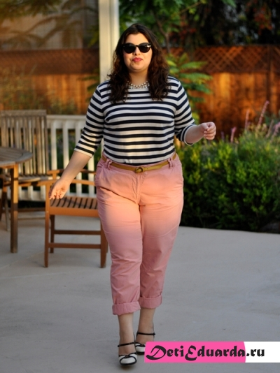 Хит сезона — цветные брюки для полных дам!