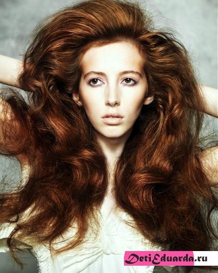 Как длинные волосы сделать объемными видео