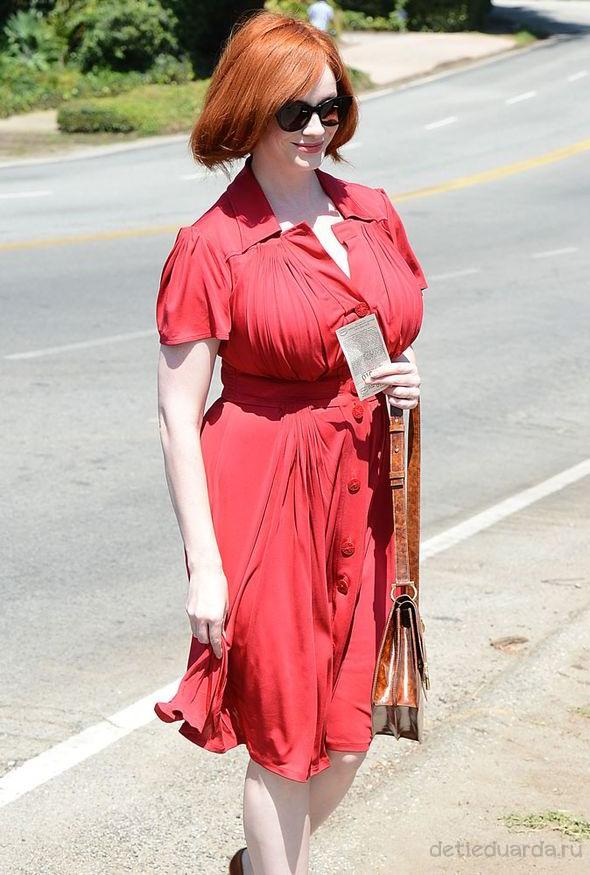 красивое красное платье для полной девушки