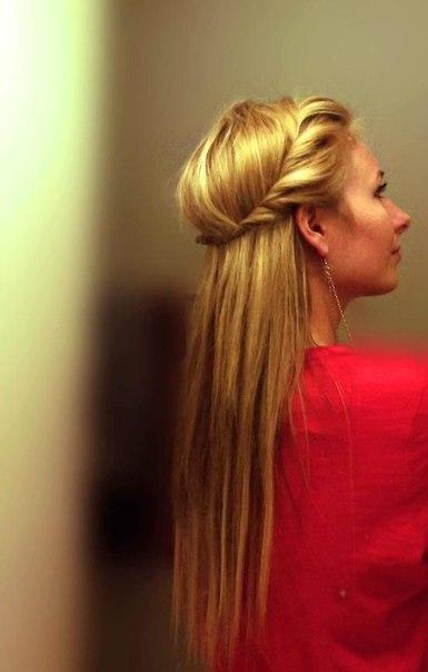 Причёски со жгутами на длинные волосы