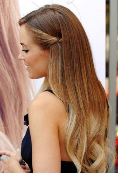 летние прически на длинные волосы, потайной жгут