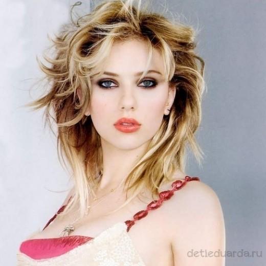 макияж для зеленоглазых блондинок на примре Скарлетт Йоханссон (4)