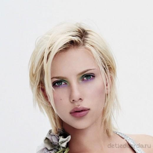 макияж для зеленоглазых блондинок на примре Скарлетт Йоханссон (6)