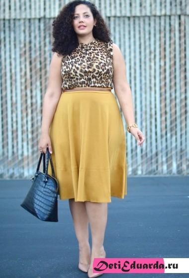 офисная мода для полных женщин (13)