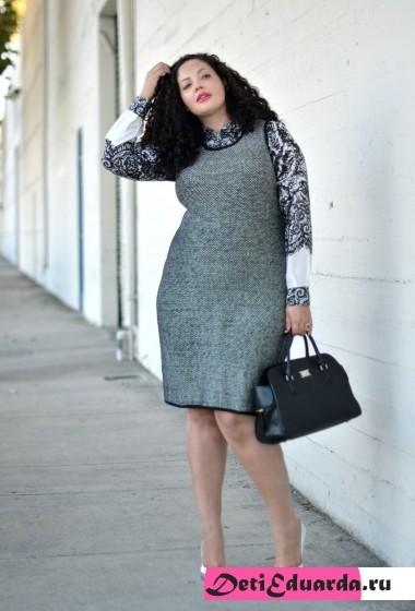 офисная мода для полных женщин (14)