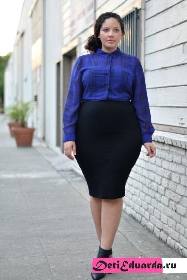 офисная мода для полных женщин (15)