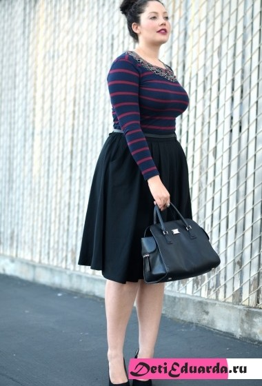 офисная мода для полных женщин (2)