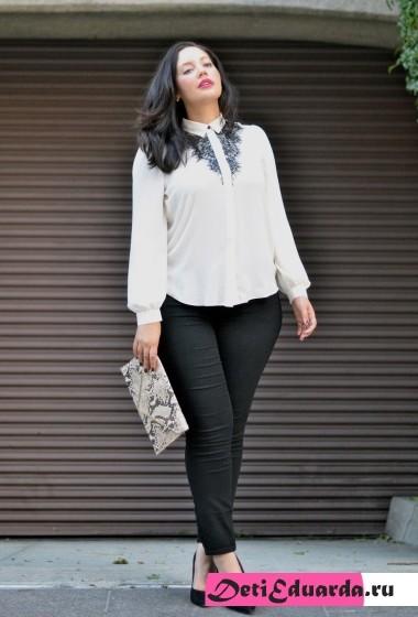 офисная мода для полных женщин (3)