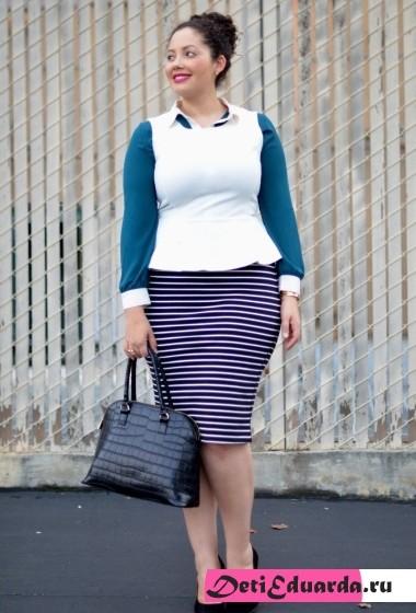 офисная мода для полных женщин (5)