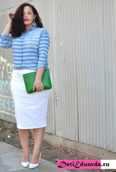 офисная мода для полных женщин (8)