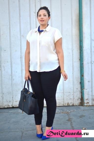 Офисная мода для полных женщин — только стильные фото!