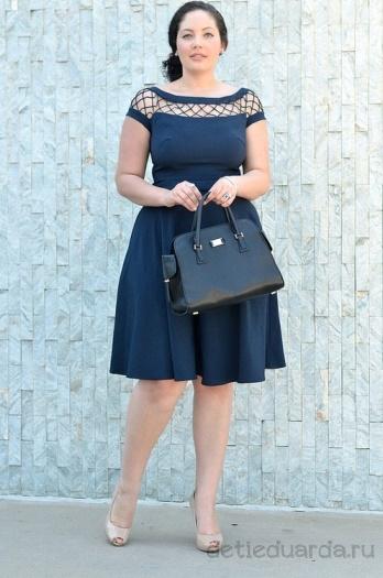 офисное платье для полных на лето (11)