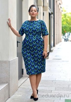 офисное платье для полных на лето (13)
