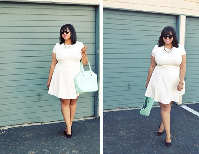 офисное платье для полных на лето (6)