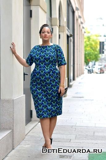 плотное платье для полных женщин