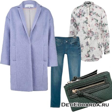 Весенний сет из одежды «Лягушка в сирени»