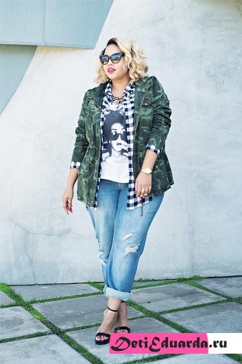 с чем носить джинсы полным девушкам (15)