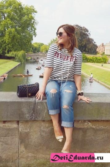 с чем носить джинсы полным девушкам (16)