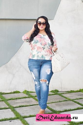 с чем носить джинсы полным девушкам (21)