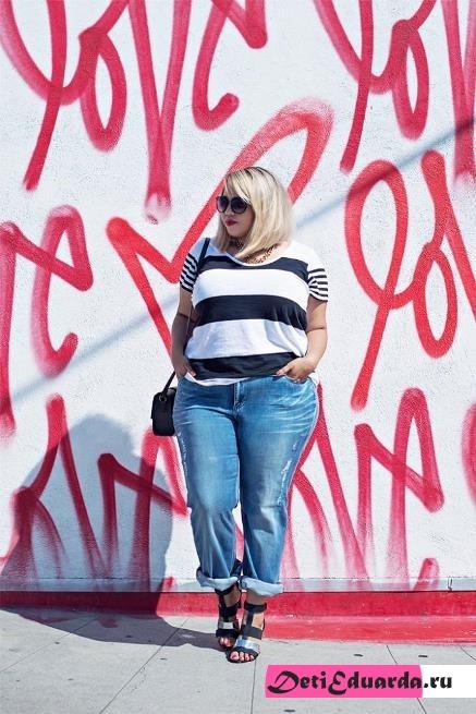 с чем носить джинсы полным девушкам (26)