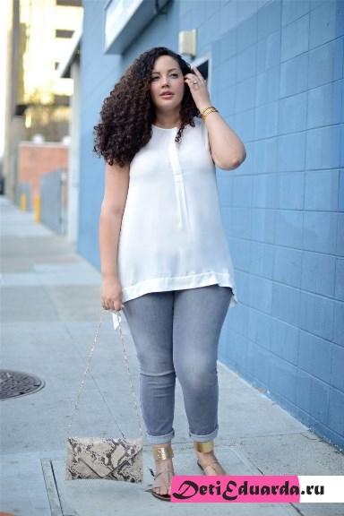 с чем носить джинсы полным девушкам (7)