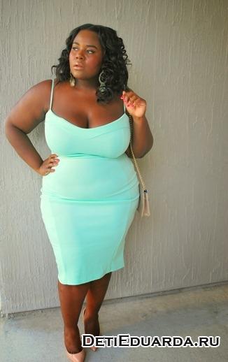 триктажное платье для полной женщины