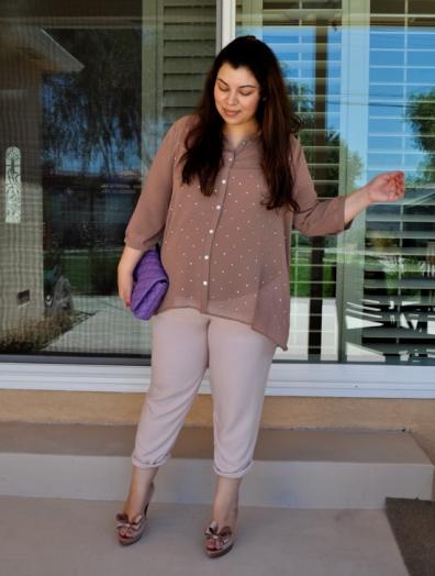 цветные брюки для полных (3)
