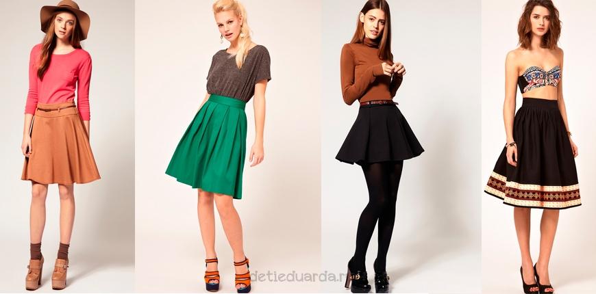 С чем надеть юбку с завышенной талией