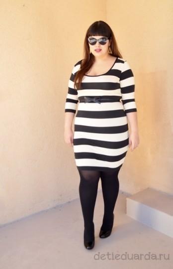 офисное платье для полных на лето (2)