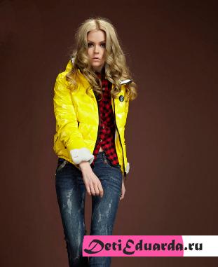 С чем носить желтый пуховик? Модные тенденции